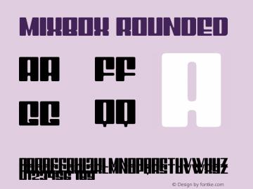 Mixbox Rounded Demo Rounded Version 1.00;January 22, 2020;FontCreator 12.0.0.2535 64-bit图片样张