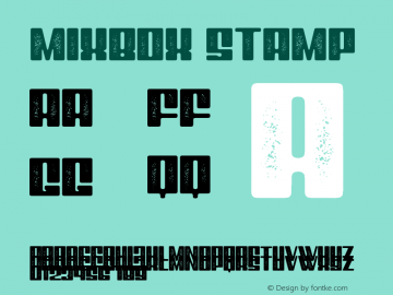 Mixbox Stamp Demo Stamp Version 1.00;January 22, 2020;FontCreator 12.0.0.2535 64-bit图片样张