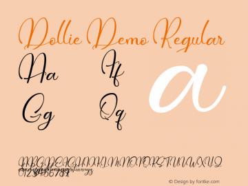 Dollie Demo Version 1.00;January 20, 2020;FontCreator 12.0.0.2535 64-bit图片样张