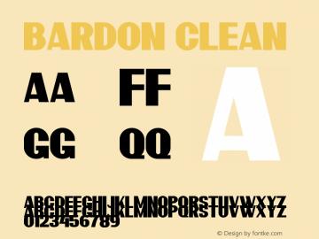 Bardon Demo Clean Version 1.00;January 22, 2020;FontCreator 12.0.0.2535 64-bit图片样张