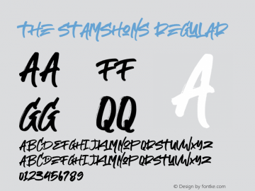 The Stamshons Demo regular Version 1.00;February 9, 2020;FontCreator 12.0.0.2535 64-bit图片样张
