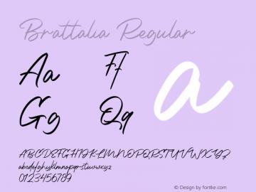 Brattalia Version 1.00;January 9, 2020;FontCreator 12.0.0.2545 64-bit图片样张