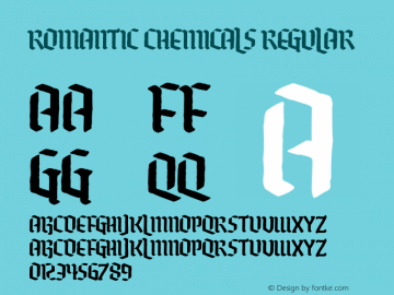 Romantic Chemicals Version 1.00;February 9, 2020;FontCreator 11.5.0.2430 64-bit图片样张
