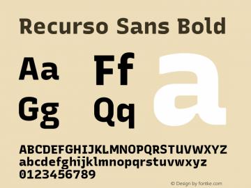 Recurso Sans Bold Version 1.037;February 9, 2020;FontCreator 12.0.0.2550 64-bit; ttfautohint (v1.6)图片样张