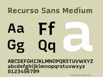 Recurso Sans Medium Version 1.037;February 9, 2020;FontCreator 12.0.0.2550 64-bit; ttfautohint (v1.6)图片样张