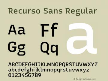 Recurso Sans Version 1.037;February 9, 2020;FontCreator 12.0.0.2550 64-bit; ttfautohint (v1.6)图片样张