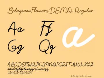 BelagianaFlowersDEMO Version 1.002;Fontself Maker 3.3.0图片样张