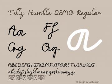 Telly Humble DEMO Version 1.002;Fontself Maker 3.3.0图片样张