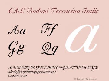 CALBodoniTerracina-Italic Version 1.003图片样张