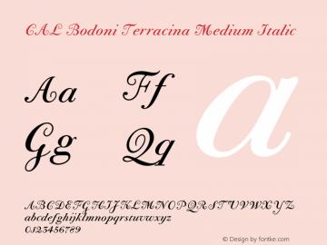 CALBodoniTerracina-MedIta Version 1.003图片样张