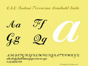 CALBodoniTerracina-SemBdIta Version 1.003图片样张