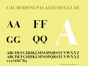 CALBodoniPalazzo-Regular Version 1.005图片样张