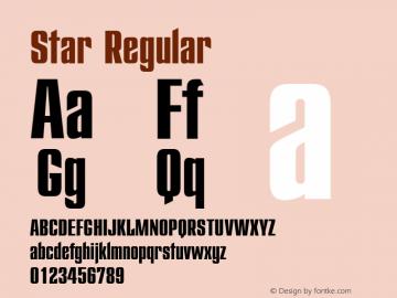 Star-Regular Version 1.00图片样张