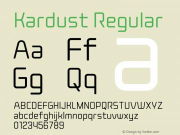 Kardust Condensed Light Version 1.00;October 5, 2019;FontCreator 12.0.0.2535 64-bit图片样张