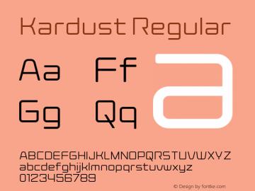 Kardust Light Version 1.00;October 5, 2019;FontCreator 12.0.0.2535 64-bit图片样张
