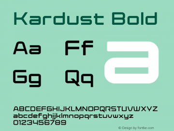 Kardust Expanded Bold Version 1.70;October 5, 2019;FontCreator 12.0.0.2535 64-bit图片样张