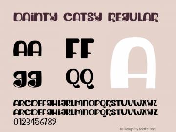 Dainty Catsy Regular Version 1.000图片样张