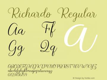 Richardo Version 1.000图片样张