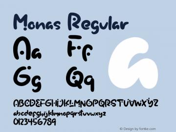 Monas Version 1.00;February 6, 2020;FontCreator 11.5.0.2430 64-bit图片样张