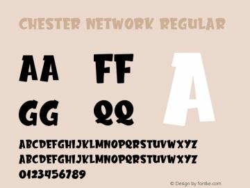 Chester Network Version 1.00;February 7, 2020;FontCreator 11.5.0.2430 64-bit图片样张