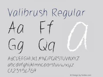 Valibrush Version 1.003;Fontself Maker 3.4.0图片样张
