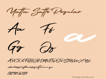 Yatta Satte Version 1.00;October 5, 2019;FontCreator 12.0.0.2535 64-bit图片样张