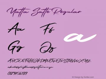 Yatta Satte Version 1.00;October 5, 2019;FontCreator 12.0.0.2535 64-bit图片样张