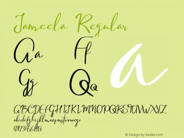 Jameela Version 1.00;October 6, 2019;FontCreator 11.0.0.2365 64-bit图片样张