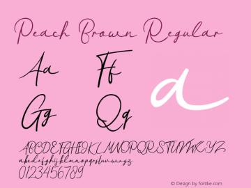 Peach Brown 图片样张