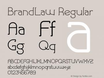 BrandLaw Version 1.00;September 19, 2019;FontCreator 11.5.0.2427 32-bit图片样张