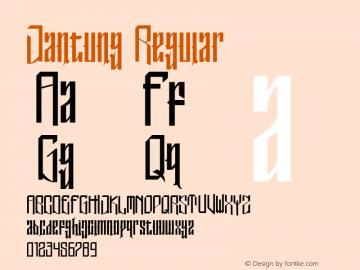 Jantung Version 1.00;October 6, 2019;FontCreator 12.0.0.2525 32-bit图片样张