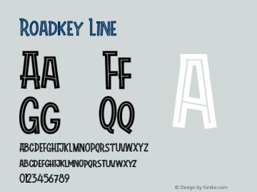 Roadkey Line Version 1.002;Fontself Maker 3.4.0图片样张