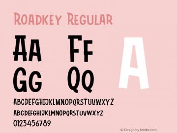 Roadkey Version 1.002;Fontself Maker 3.4.0图片样张