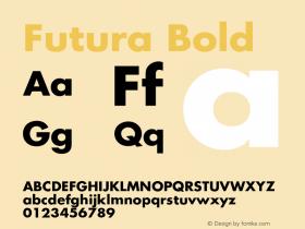 Futura Bold Version 2.50     04/08/2015图片样张