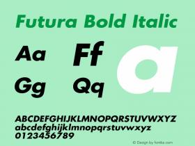 Futura Bold Italic Version 2.50     04/08/2015图片样张