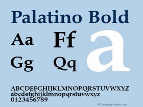 Palatino Bold Version 1.60     03/31/2014图片样张