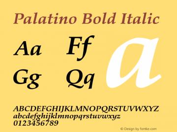 Palatino Bold Italic Version 1.60     03/31/2014图片样张