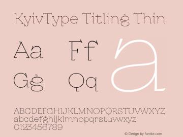 KyivType Titling Thin Version 1.002图片样张