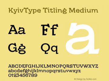 KyivType Titling Medium Version 1.002图片样张