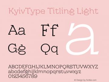 KyivType Titling Light Version 1.002图片样张