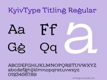 KyivType Titling Regular Version 1.002图片样张