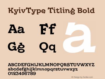 KyivType Titling Bold Version 1.002图片样张