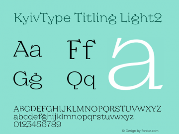 KyivType Titling Light2 Version 1.002图片样张
