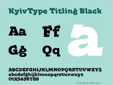 KyivType Titling Black Version 1.002图片样张