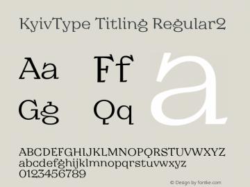 KyivType Titling Regular2 Version 1.002图片样张