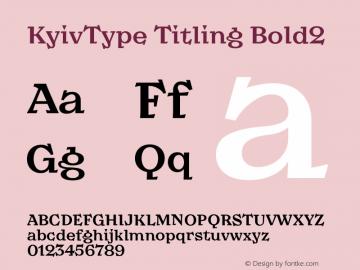 KyivType Titling Bold2 Version 1.002图片样张