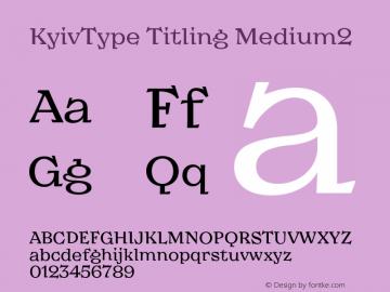 KyivType Titling Medium2 Version 1.002图片样张