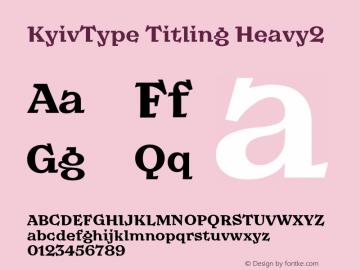 KyivType Titling Heavy2 Version 1.002图片样张