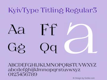 KyivType Titling Regular3 Version 1.002图片样张
