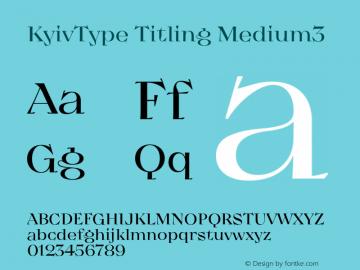 KyivType Titling Medium3 Version 1.002图片样张